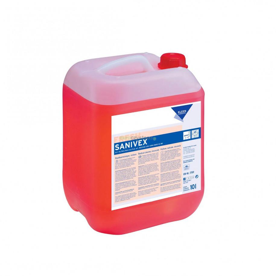 Kleen Sanivex - środek do usuwania trudnych zabrudzeń w łazienkach, toaletach, prysznicach i basenach