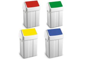 TTS kosz na śmieci z klapą uchylną ABS - różne kolory klap