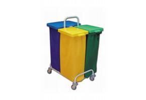 EURO DUST 303 stelaż na śmieci 1 x 120 L i 2 x 70 L- wózek do segregacji