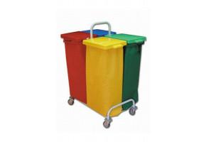 EURO DUST 304 stelaż na śmieci 4 x 70 l - wózek do segregacji