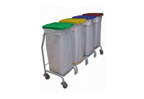 EURO Dust 114 - wózek 4 x 70 l - wózek do segregacji