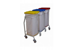 EURO Dust 113 - wózek 3 x 70 l - wózek do segregacji