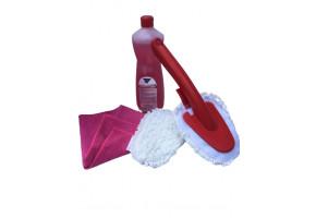 Kleen zestaw do czyszczenia WC Premium nr 1 Viskos, myjka do toalety, ściereczka z mikrofibry