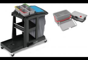 Numatic EM3 z SRK17 + SRK21 wózek serwisowy z wiaderkami do dezynfekcji