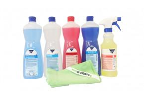 Zestaw profesjonalnych środków czyszczących Kleen - Hotel
