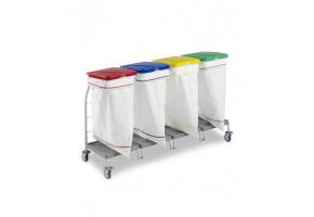 TTS DUST 4 x 70l worek - wózek do segregacji