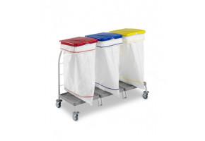 TTS DUST 3 x 70 l worek - wózek do segregacji