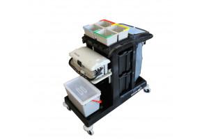 Numatic EM5 z SRK17 + SRK21 wózek serwisowy z wiaderkami do dezynfekcji