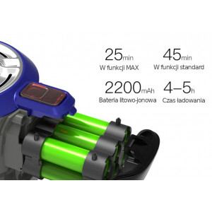 Dibea D18 - odkurzacz pionowy, bateryjny